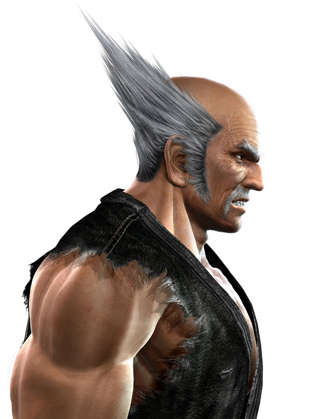 tekken characters male white hair