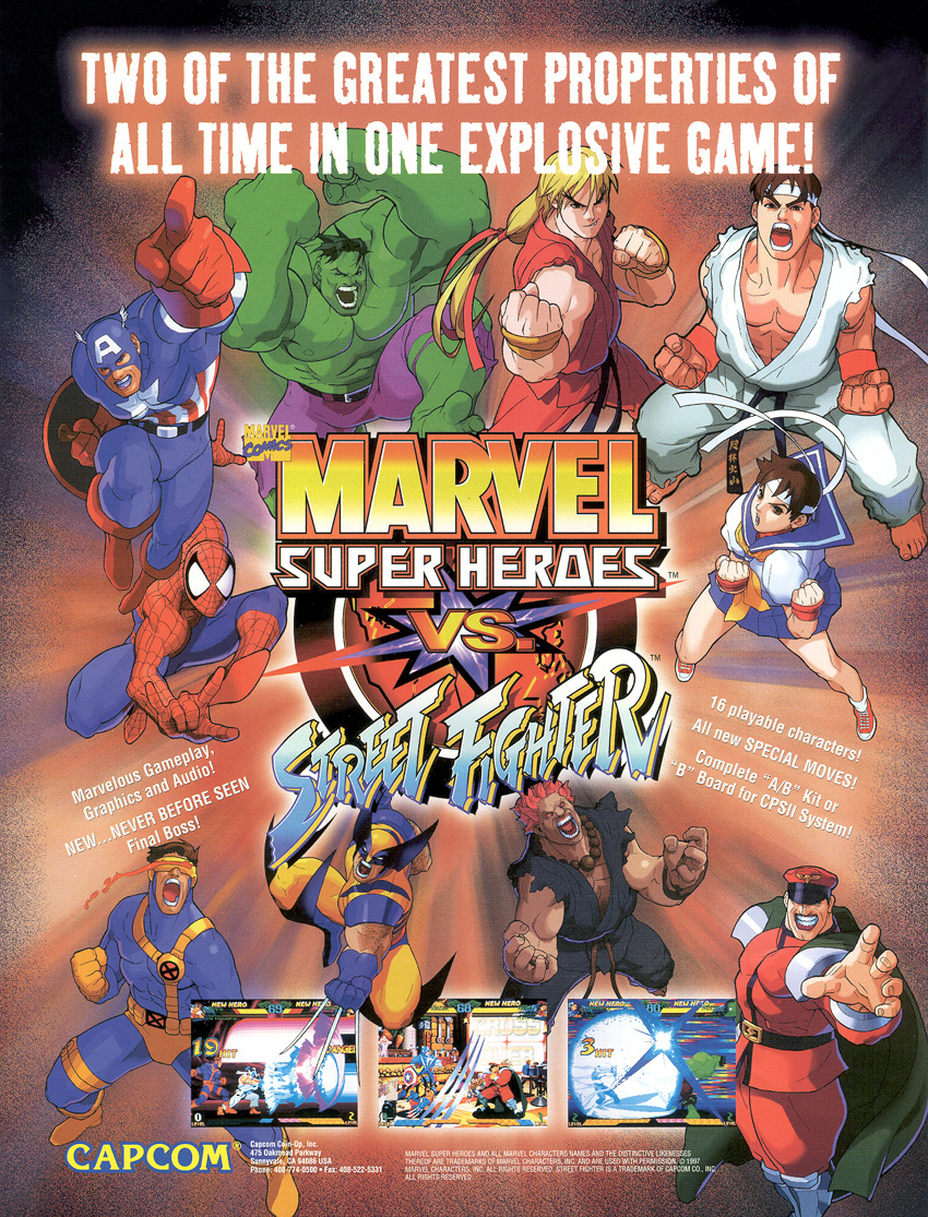 Marvel Super Heroes VS Street Fighter - TFG Review / Artwork Gallery
