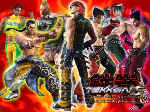 Tekken 5 Dark Resurrection Arcade Posters Promotional Art