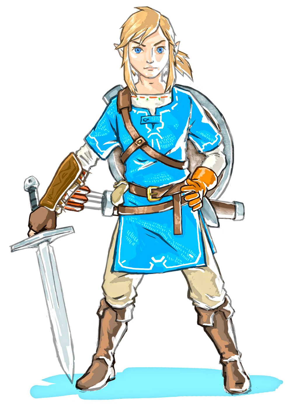 It's just a graphic of Sly Breath Of The Wild Drawing