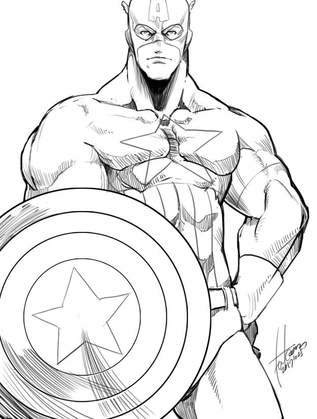 captain america by falcoon2017