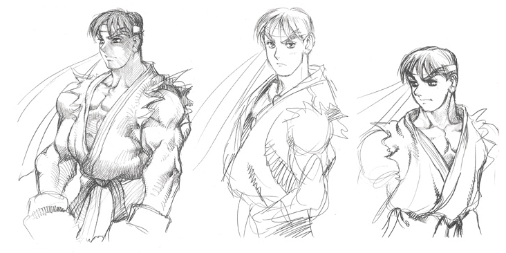 Ryu Street Fighter Artwork Page 2