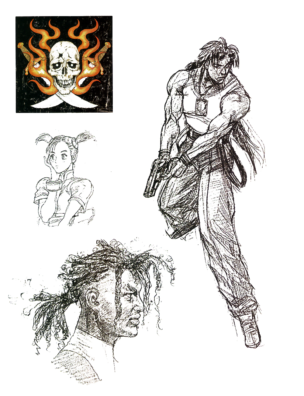 Tekken 3 Character Concept Art