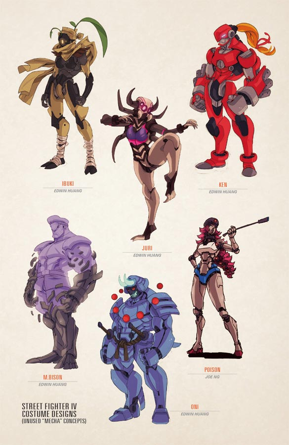 Unused Street Fighter 4 Dlc Costume Concepts From Udon Tfg