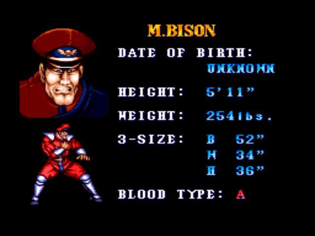 M Bison Street Fighter Movie Street Fighter II' Cha...
