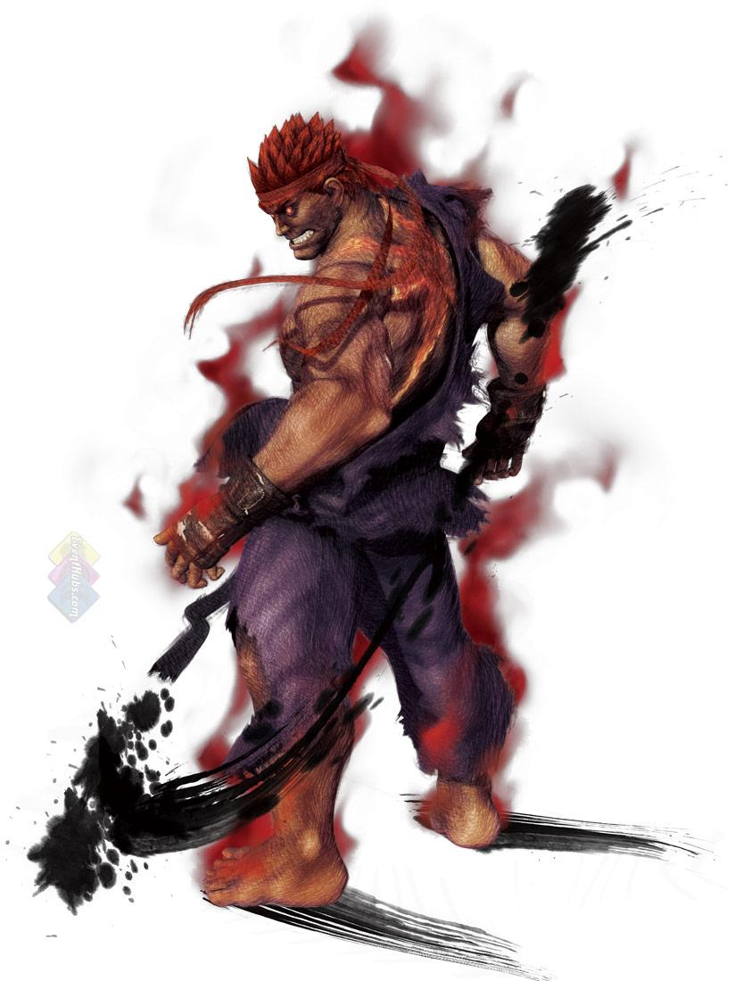 Evil Ryu (Street Fighter)  Evil Ryu (Stree...