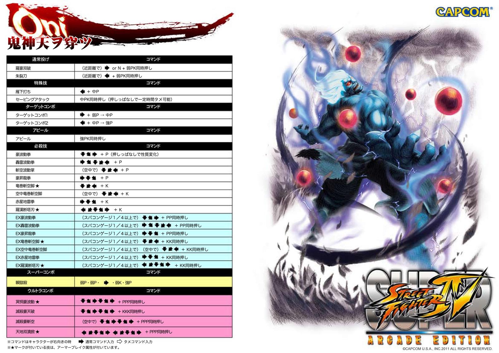 Oni Oni Akuma Street Fighter