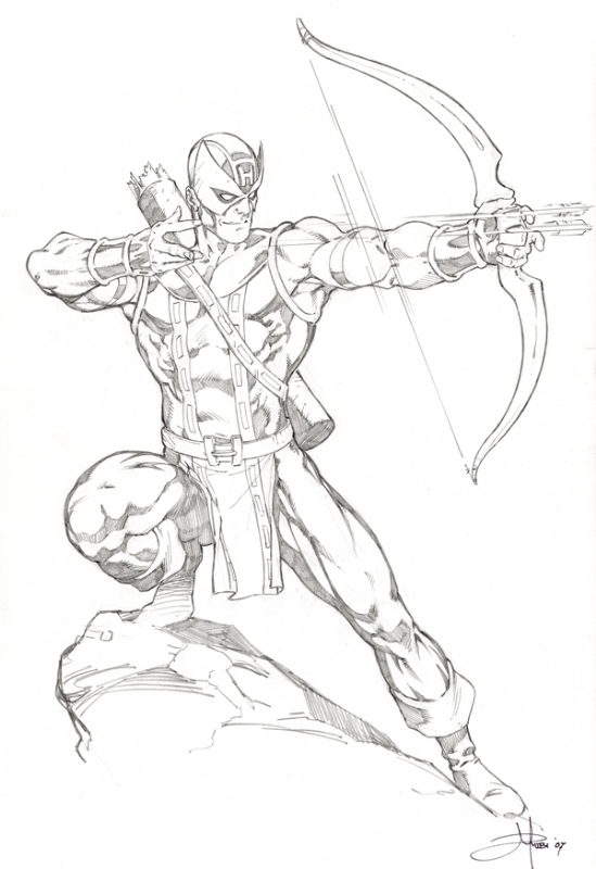 Hawkeye for Marvel hawkeye coloring pages
