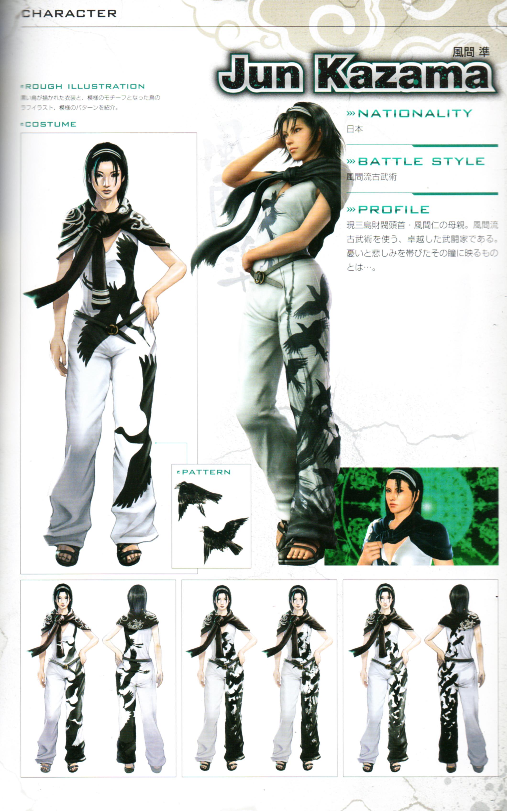 Jun Kazama from Tekken 2/TTT1 with her 2p outfit by chainspellXX7 ...