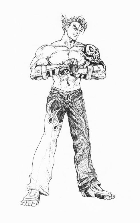 tekken 3 jin kazama drawing
