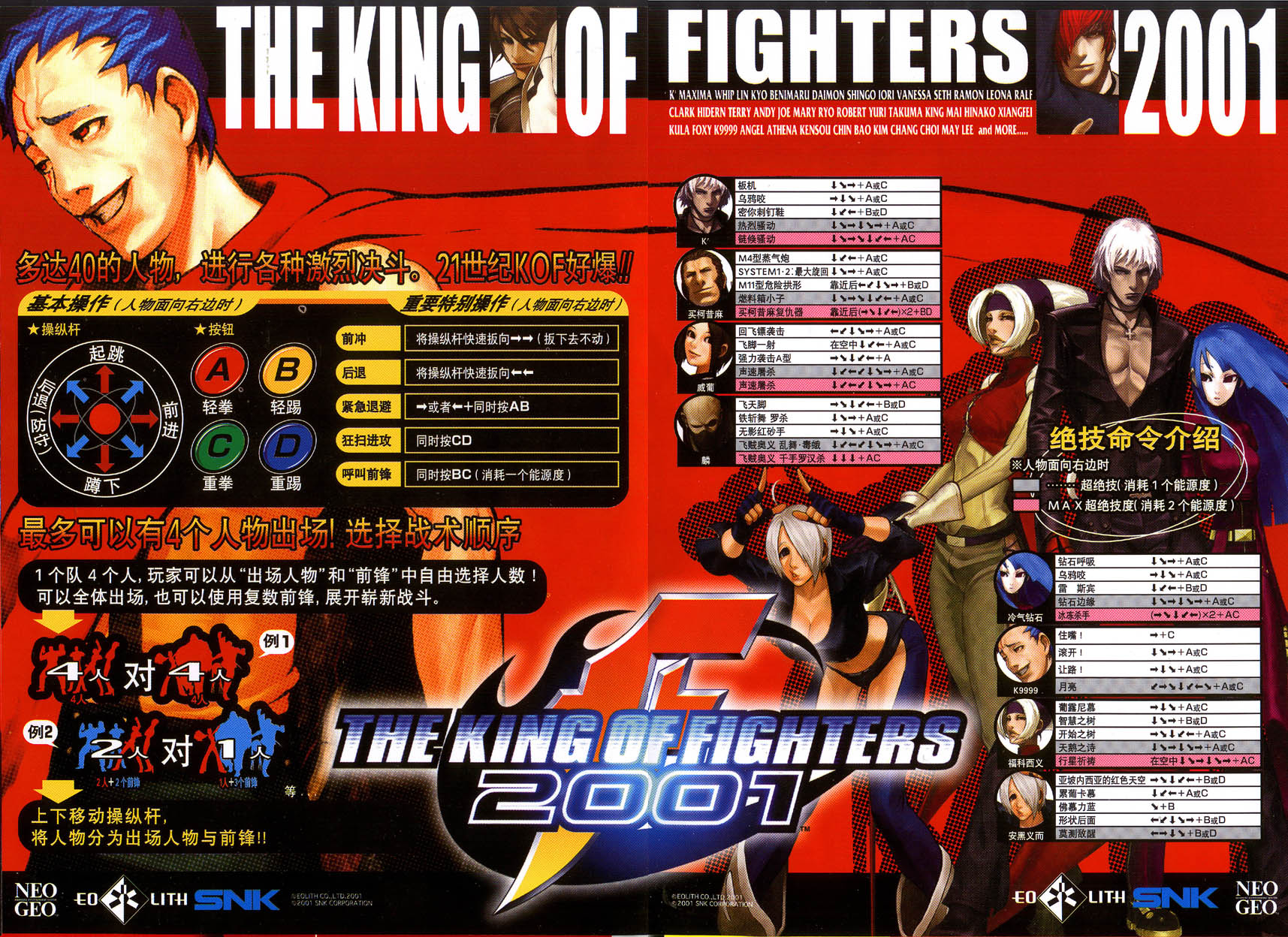 The King Of Fighters 2001 Tfg Review Art Gallery