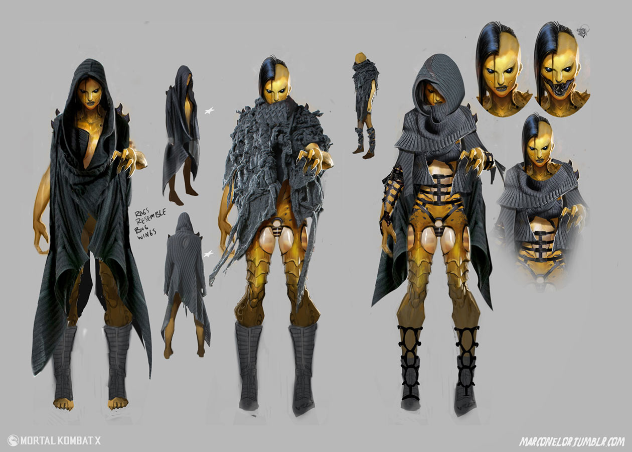 Character Design And Concept Art : D vorah mortal kombat