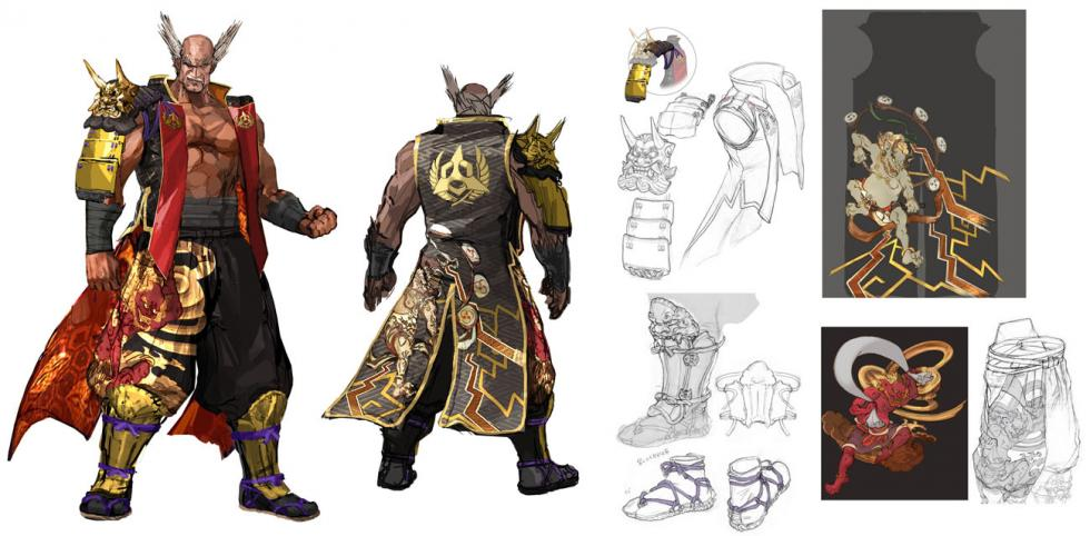 king tekken concept art