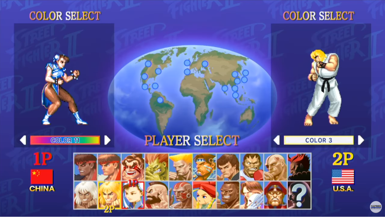 Ultra Street Fighter 2 Color Edit Stage Selection Screen Shown In New Gameplay Footage
